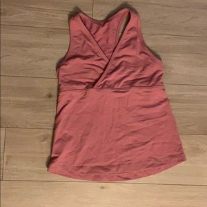 Pink lululemon workout tank
